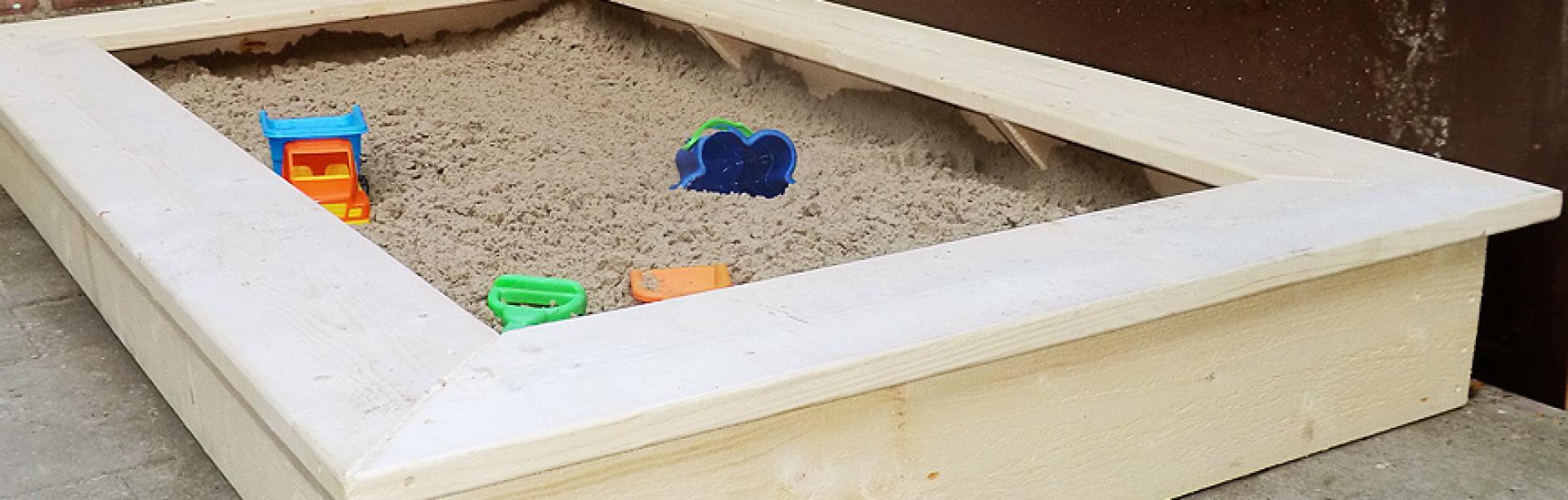 Einen Sandkasten Bauen