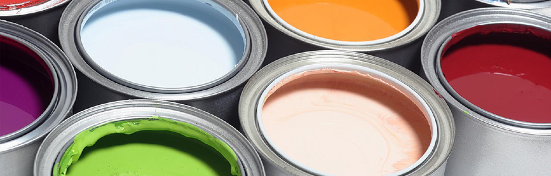 Verschiedene Arten von Farben und Lacken