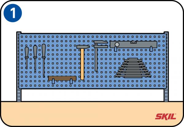 Favorit Selbst eine Werkzeugwand bauen SL49