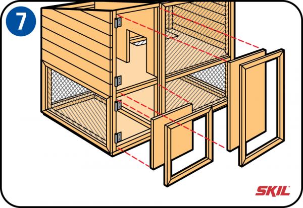 bauen sie ihren eigenen kaninchenstall oder ein freigehege. Black Bedroom Furniture Sets. Home Design Ideas